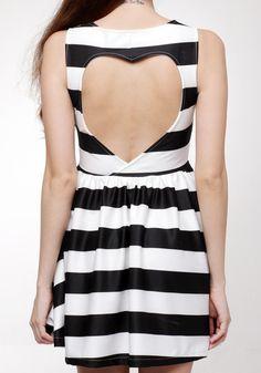 Sweetheart Stripe Skater Dress