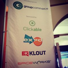 And @TMahlman is speaking! --> At the #socialcommerce conference where @klout is representing -@Dghoang.