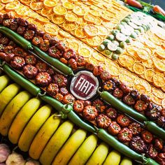 The #New500 all covered with fruit and vegetables