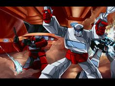 Transformers Movie scene by ~angryangryasian on deviantART (Iron Hide, Ratchet, and Prowl)