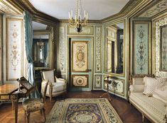 "Robert Couturier Picks a Boudoir From the Hôtel de Crillon Designed by: Pierre-Adrien Paris Location: The Metropolitan Museum of Art Year: Circa 1777–80 ""When I feel blue, I come here and just stare. The room is very small, with one window and an alcove bed, all divinely upholstered, the woodwork perfectly decorated. But it's the delicate atmosphere that I love."""