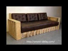 Bricolage con palets. Fabrica sofás y mesas con la Escuela Asturiana de Surf. - YouTube