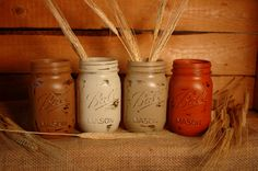 Sugar+'n+Spice+painted+mason+jars+by+PineknobsAndCrickets+on+Etsy,+$24.00