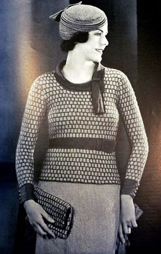 19 Glamorous Photos That Capture Young Women in Their Knitting and Crocheting Garments From the 1930s