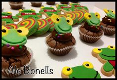 Minicupcakes brownies Sapo Pepe