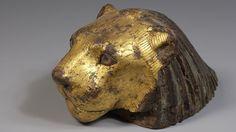 Tête de lion, élément de mobilier (Basse Époque 664-332 avant J.-C.) exposition des pharaons et des hommes au Louvre Lens
