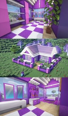 Plans Minecraft, Villa Minecraft, Minecraft Cottage, Cute Minecraft Houses, Minecraft Room, Amazing Minecraft, Minecraft House Designs, Minecraft Tutorial, Minecraft Blueprints