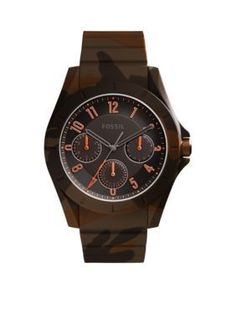 Fossil Men's Mens Poptastic Sport Multifunction Camo Watch -  - One Size