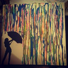 Acrylic drip painting on canvas
