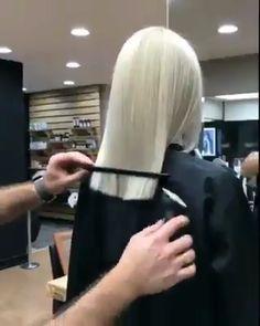 Fresh haircut ✂ - New Sites Hair Cutting Videos, Hair Cutting Techniques, Hair Videos, Makeup Techniques, Permed Hairstyles, Pretty Hairstyles, Medium Hair Styles, Curly Hair Styles, Platinum Blonde Hair