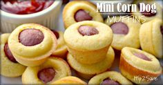Mini Corn Dog Muffins by Hip2Save