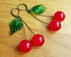 Hey, I found this really awesome Etsy listing at https://www.etsy.com/listing/231999119/cherry-earrings-40s-inspired-with-red