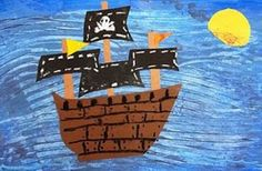 We (my 3rd and 1st graders and I) followed these directions to make pirate ships. So much fun! We used magazine pictures to collage our boats too, just for some added excitement. :)