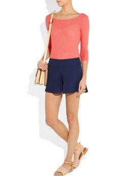 Silk-georgette shorts