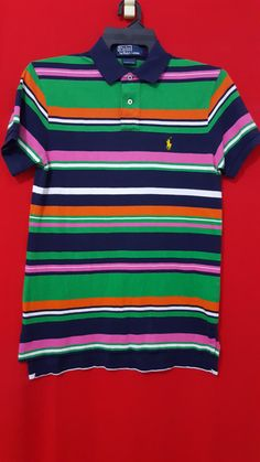 Vintage Polo Ralph Lauren Stripes Shirt Custome Fit for Adult