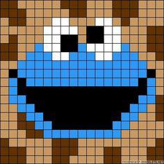 Fuse bead Cookie monster