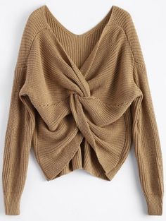 GET $50 NOW   Join Zaful: Get YOUR $50 NOW!http://m.zaful.com/v-neck-twisted-back-sweater-p_250473.html?seid=1028259zf250473