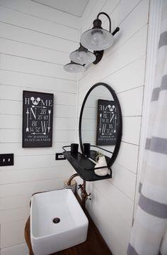 Home Coordinates Farmhouse Sign - Modern Modern Bathroom Tile, Bathroom Signs, Bathroom Ideas, Quirky Home Decor, Cheap Home Decor, Farmhouse Signs, Farmhouse Decor, Vintage Farmhouse, Disney Bathroom