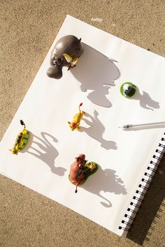 This shadow art activity is a fun way to teach little ones about shapes and light. - The Lion Guard Shadow Art
