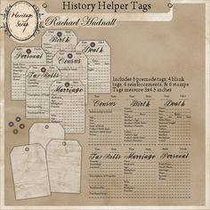 History Helper Tags by Rachael Hudnall