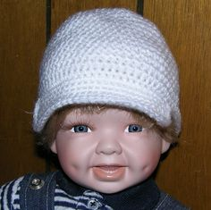 0 to 3 months white Newsboy hat by grandmakaystreasures on Etsy, $4.95