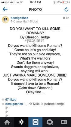 Do You Want To Kill Some Romans? By Gleeson Hedge