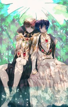 Code Geass: C. 9 by ~ycysusan Lelouch and Suzaku Anime Couples Manga, Cute Anime Couples, Anime Girls, Code Geass Wallpaper, Lelouch Lamperouge, The Warlocks, Chef D Oeuvre, Manga Illustration, Anime Ships