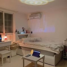 Room Design Bedroom, Room Ideas Bedroom, Small Room Bedroom, Bedroom Decor, White Bedroom, Study Room Decor, Study Rooms, Small Room Design, Minimalist Room