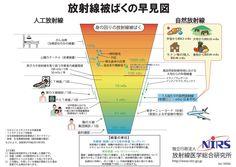 【放射線被ばくの早見図】 http://www.env.go.jp/chemi/rhm/kisoshiryo/attach/20140707mat1-01-2.pdf#page=29… 「日常生活で受ける放射線の量を比較すると、放射線治療のような特殊のケースを除き、一回の行為当たりの線量や年間当たりの線量が、ミリシーベルト単位のものがほとんど」