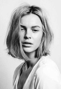 Short hair inspiration (Anna Kuen photographed by Christoph M. Bieber) short hair, short lob, short cuts, short blunt hair, bob cuts, hairstyl, brow, long bobs, bob haircuts