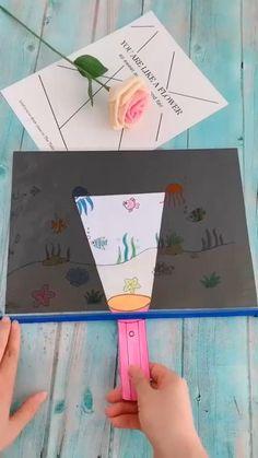 Diy Crafts Hacks, Diy Crafts For Gifts, Paper Crafts For Kids, Creative Crafts, Diy For Kids, Fun Crafts, Decor Crafts, Summer Crafts, Funny Crafts For Kids