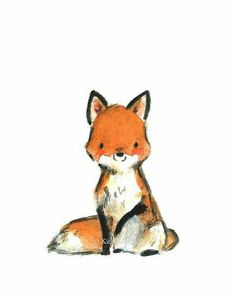 Woodland Nursery Decor, Woodland Art, Little Red Giclee Print, Kit Chase Artwork, Art And Illustration, Fuchs Illustration, Portrait Illustration, Woodland Art, Woodland Nursery Decor, Cute Drawings, Animal Drawings, Draw Realistic, Art Fox