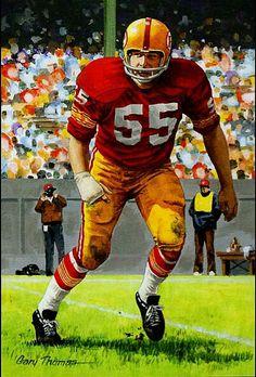Chris Hanburger, Washington Redskins by Gary Thomas Redskins Football, Nfl Football Players, Football Art, School Football, Vintage Football, Football Helmets, Nfl Hall Of Fame, Football Hall Of Fame, Redskins Pictures