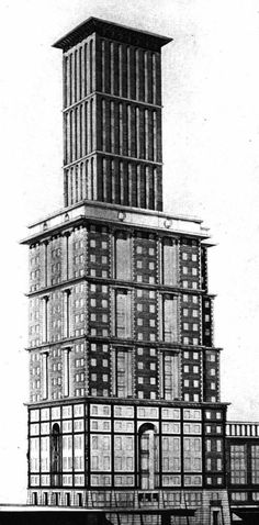 Finn Berner, Entry to the Chicago Tribune Tower Competition, 1922