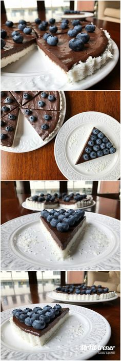 Healthy Recepies, Vegan Recipes, Healthy Food, Vegan Cheesecake, Blueberry, Good Food, Smoothie, Food And Drink, Protein