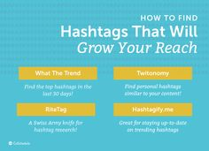 How to Find Hashtags That Will Grow Your Reach – these are the sites to use to find good hashtags. This whole article is a super helpful guide on how to use hashtags on social media!