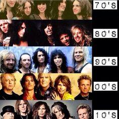 Aerosmith through the years