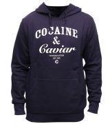 Crooks & Castles Cocaine & Caviar Pullover Hoodie Navy White