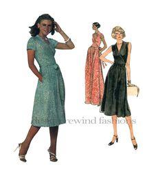 VOGUE 1610 DIANE Von FURSTENBERG Wrap Dress Pattern Vogue American Designer Day Evening Gown Size 10 Stretch Knit Womens Sewing Patterns by DesignRewindFashions on Etsy