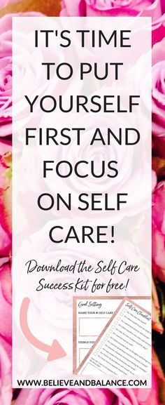The Self Care Success Kit is a 18 page e-book for you to print, fill out, and use whenever you need some support! This e-book includes tried and true self care tips, activities, ideas, and critical thinking questions for you to answer while creating a self care plan that works for you! The best part? It's FREE! Download it now! #selfcare #wellness #health #wellness