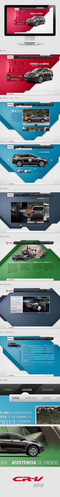 CR - V 2012 - Honda by Israel Trujillo, via Behance. If you like UX, design, or design thinking, check out theuxblog.com