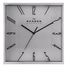 Skagen Stainless Steel 12 inch Wall Clock   Overstock.com