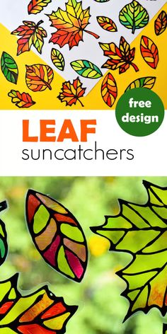 Make stained glass leaf suncatchers with kids and decorate windows for the fall! This autumn craft comes with five free printable designs. glass crafts for kids Stained Glass Leaf Suncatcher with Free Printable Templates Easy Fall Crafts, Fall Crafts For Kids, Kids Crafts, Kids Diy, Decor Crafts, Fall Toddler Crafts, Autumn Art Ideas For Kids, Making Stained Glass, Stained Glass Crafts