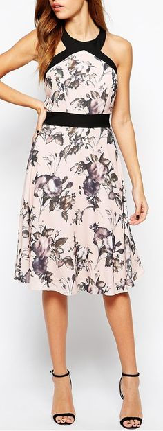 bloom print dress