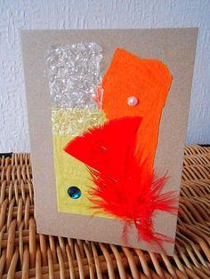 Bubble Jewels - Handmade Mixed Media Art Greeting Card - Mixed Materials…
