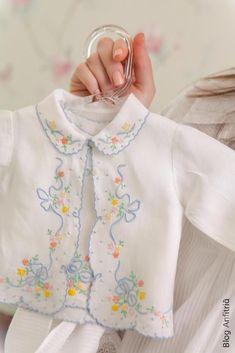 Baby Dress Patterns, Sewing Patterns For Kids, Sewing For Kids, Baby Sewing, Sewing Kids Clothes, Clothes Crafts, Baby Embroidery, Embroidery Fashion, Toddler Fashion