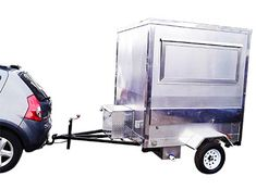 Remolques para comida para preparar y vender alimentos|Lapicero Digital Kombi Food Truck, Batanes, Taco Stand, Y Food, Food Trailer, Crepe Recipes, Food Containers, Coffee Recipes, Hot Dogs