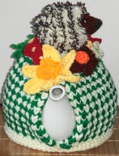 hedgehog......  hand knitted and crocheted by peerietreisures