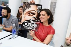 Awesome Lana #ComicCon2016 signing table holding her awesome poster of awesome Evil Queen Regina (Lana) for awesome #Once S6  #LongLiveTheAwesomeQueen #SanDiego #Ca Saturday 7-23-16