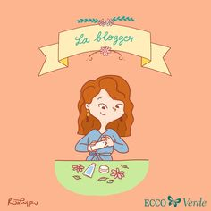 La blogger - a character I created for Ecco Verde Italia! You can find all the other characters at www.ritacuppari.com Lisa Simpson, Character Design, Family Guy, Artwork, Fictional Characters, Italia, Work Of Art